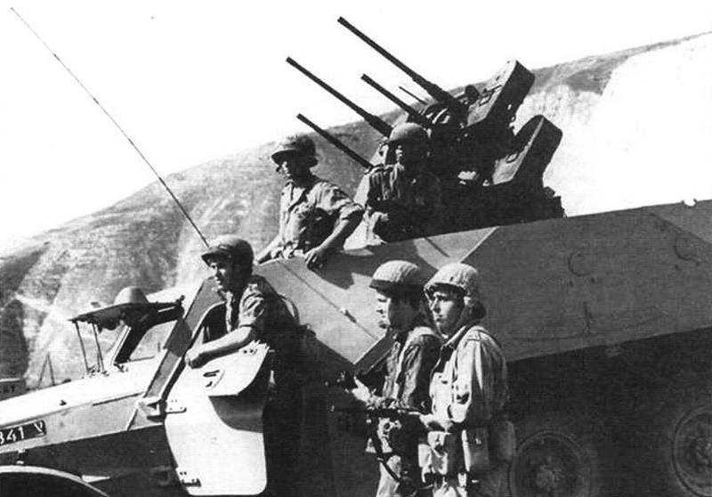Счетверенная зенитная пулеметная установка М55 с 12,7-мм пулеметами «Браунинг» М2НВ, смонтированная на БТР-152. Армия Израиля