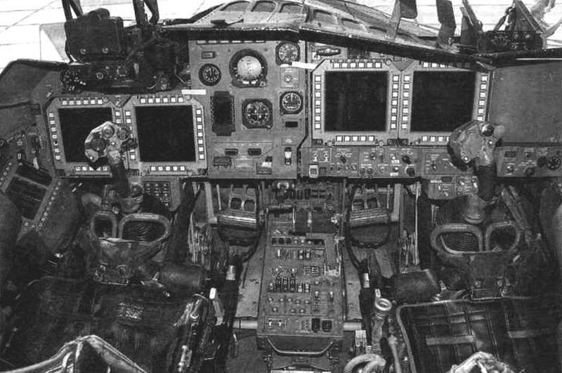 Фрагмент кабины серийного Су-34
