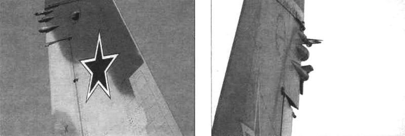 Антенны на килях серийного Су-34