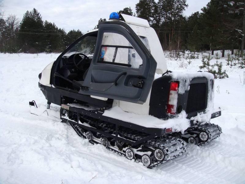 Снегомобиль «Беркут-2» ТТМ-1901. Арктическая экспедиция. Февраль 2016 г.
