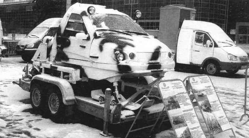 «Беркут-2» может транспортироваться на легких прицепах или в кузовах автомобилей типа «ГАЗель». Специализированная выставка «Электрические сети России». Москва, 2012 г.