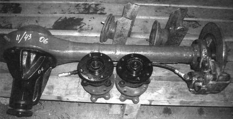 Передний мост (от автомобиля ВА3-2101) с бор юными фрикционами (тормозными дисками и механизмами от передних колес «жигулей»)