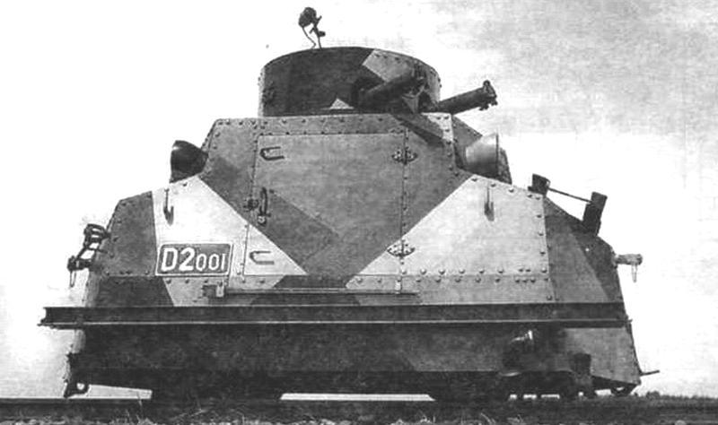 Чешская бронедрезина «Татра» T18 с круглой башней