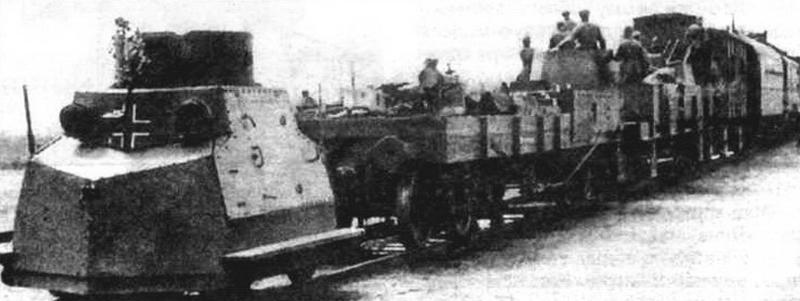 Трофейные бронедрезины использовались немцами в составах своих поездов
