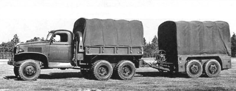 GMC CCKW 353A1 с прицепом