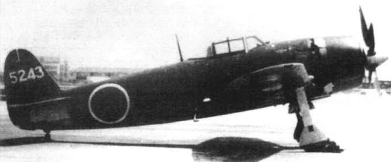 Первый серийный N1K2-Ja номер 5243 с уменьшенным килем