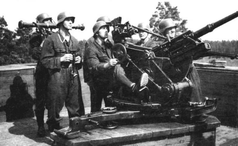 20-мм зенитная пушка Flak 38, снятая с самоходки