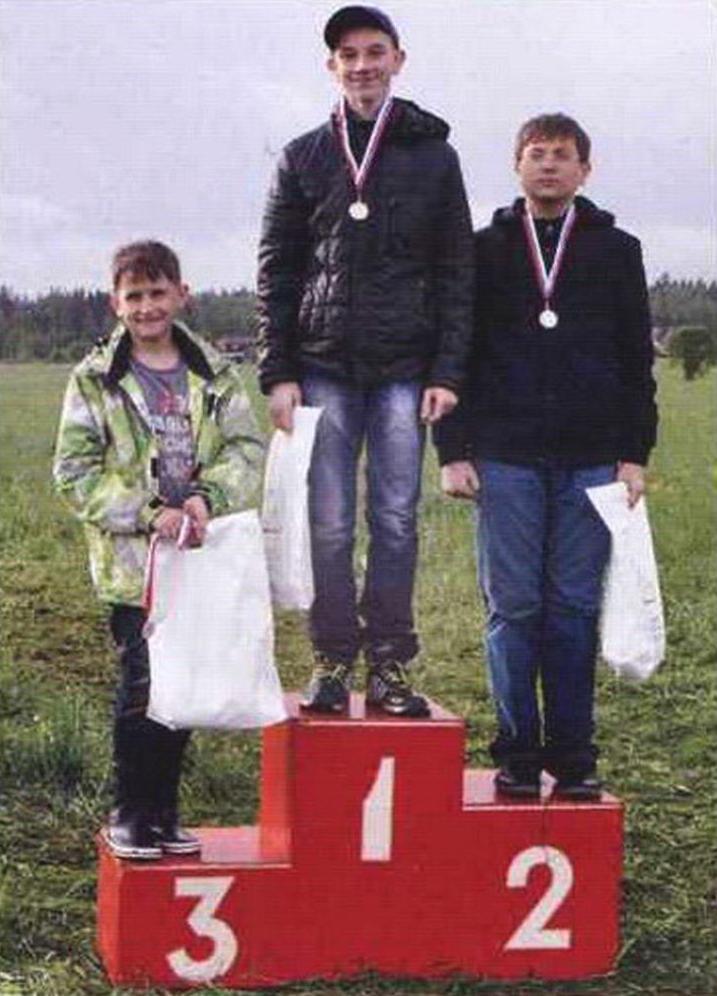 Призеры чемпионата Московской области в классе моделей-копий (младшая группа)