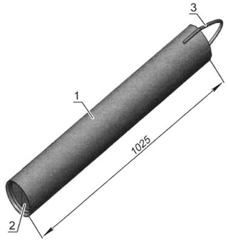 Желонка с двухлепестковым клапаном