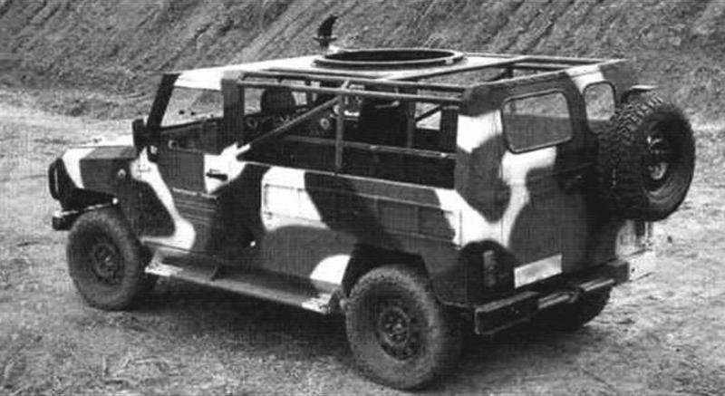 Модель автомобиля ЛША с открытым каркасом безопасности