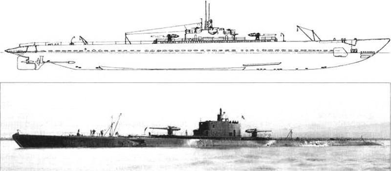 Большая подводная лодка «Нарвал» «V-5» (SS-167), США, 1928 г.