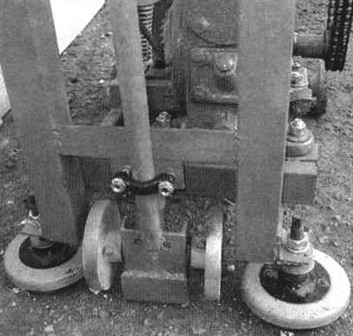 Виброопоры и колеса рукоятки (на стоянке)