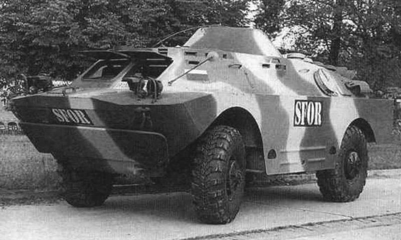 БРДМ-2 из состава болгарского контингента миротворческих сил в Боснии. 1990-с гг.