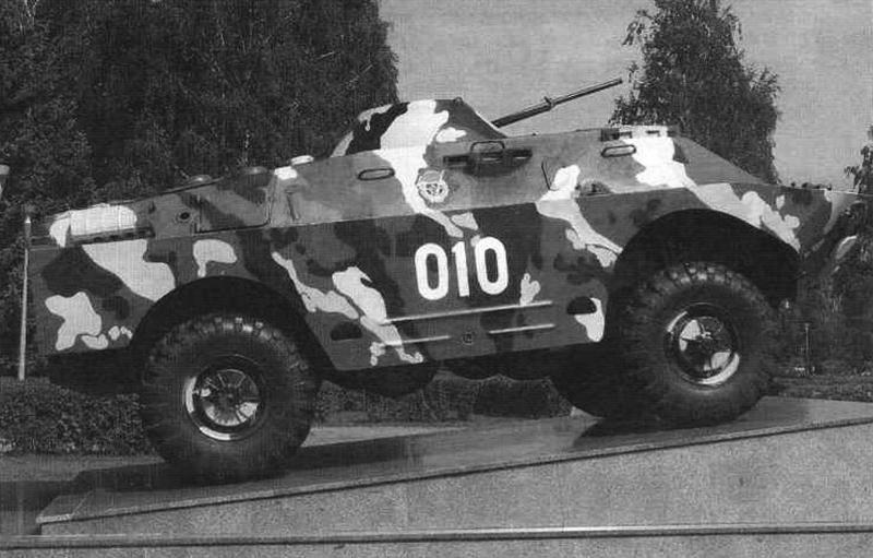 БРДМ-2 на постаменте в подмосковном г. Королёве