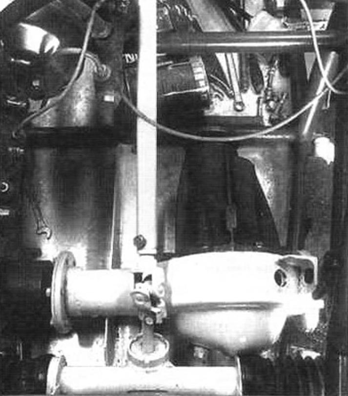 Фрагмент рулевого управления (карданный вал и рейка)