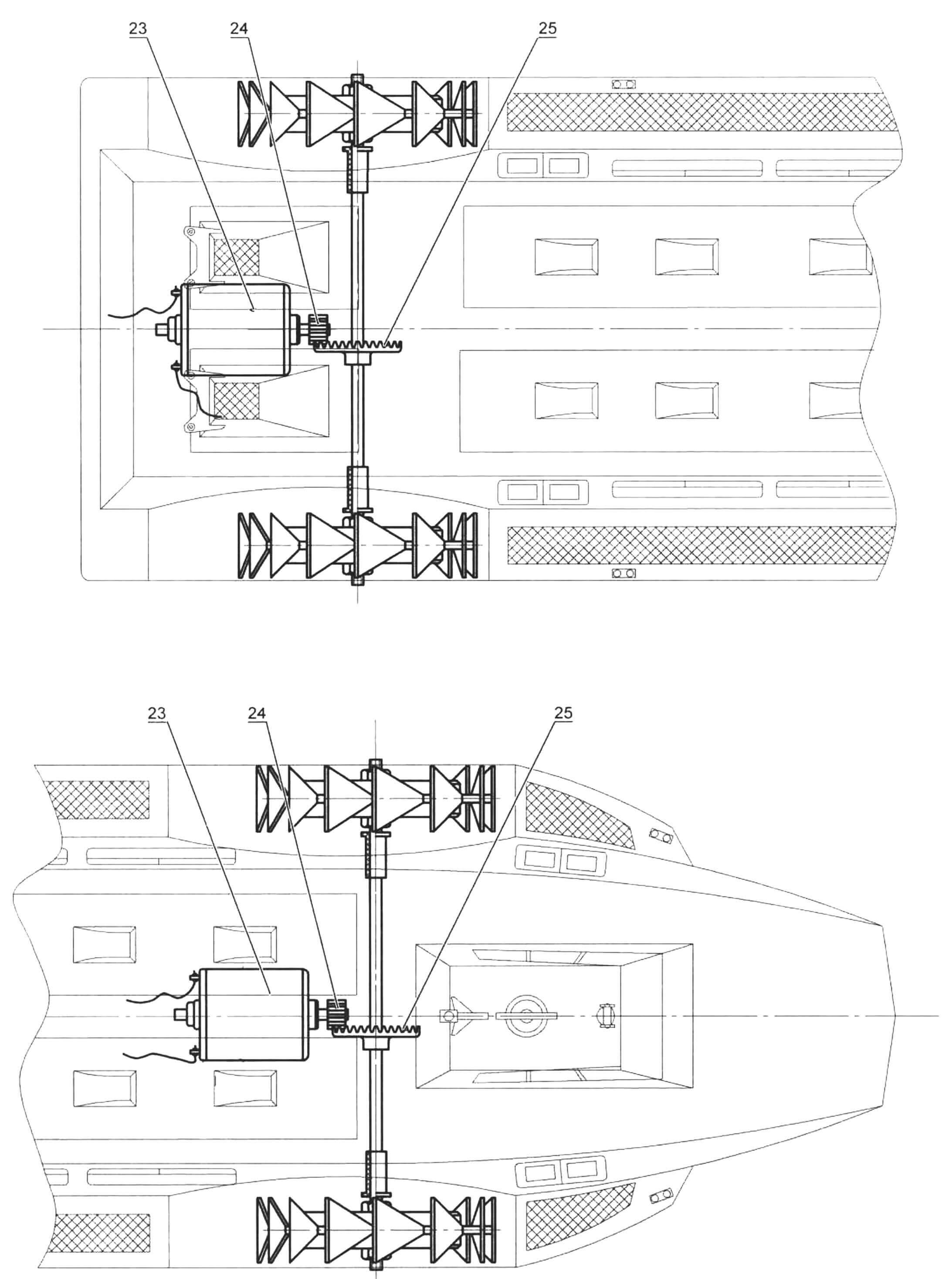Рис. 4. Установка электромоторов