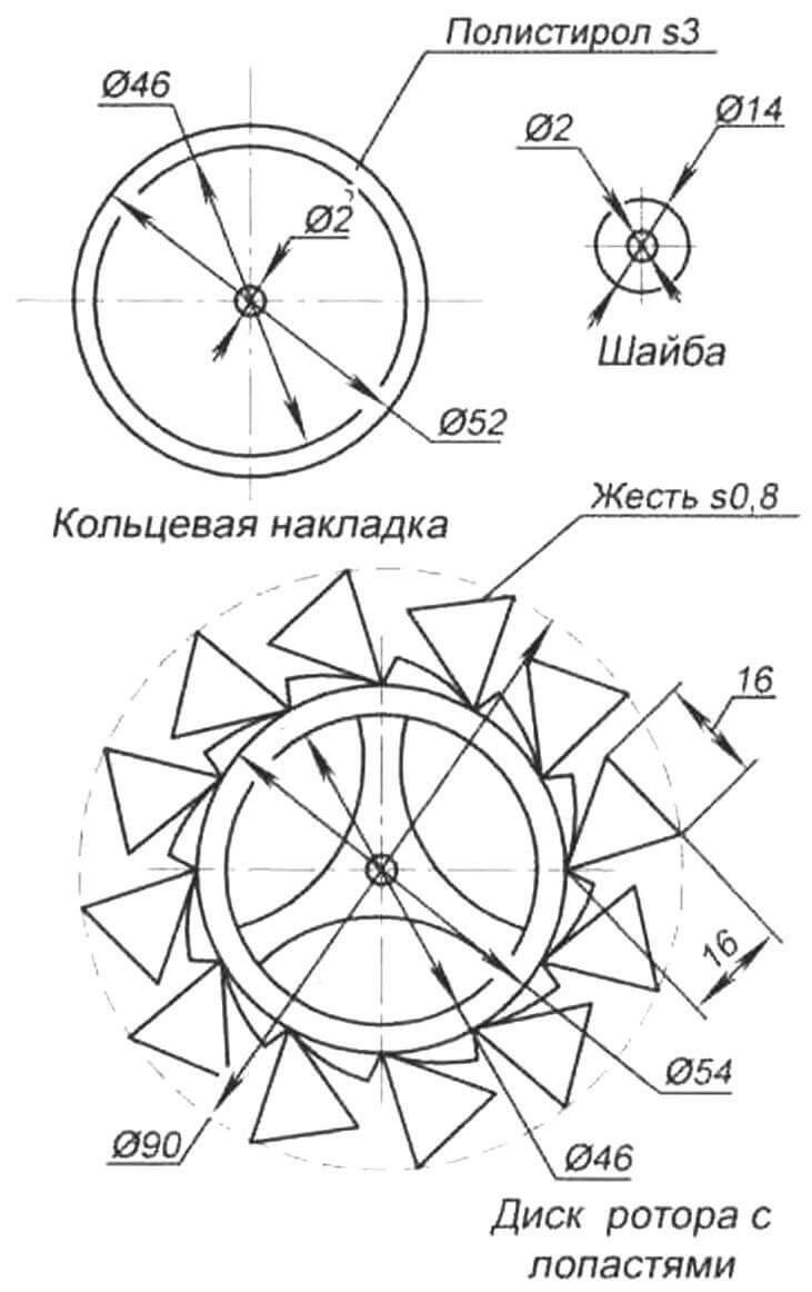 Рис. 5. Детали ротора