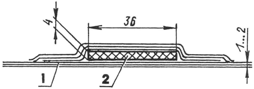 Типовое сечение «шпангоута» или «стрингера»