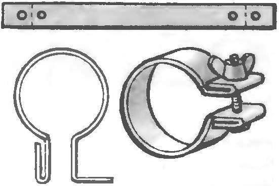 Как сделать хомут для труб