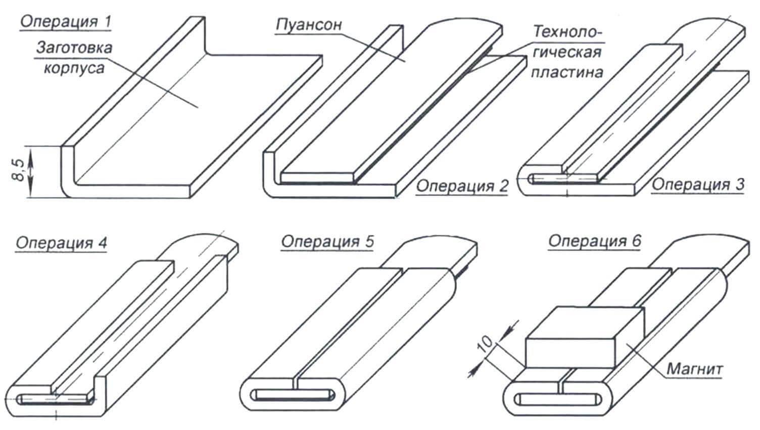 Рис. 2. Технология изготовления корпуса приспособления