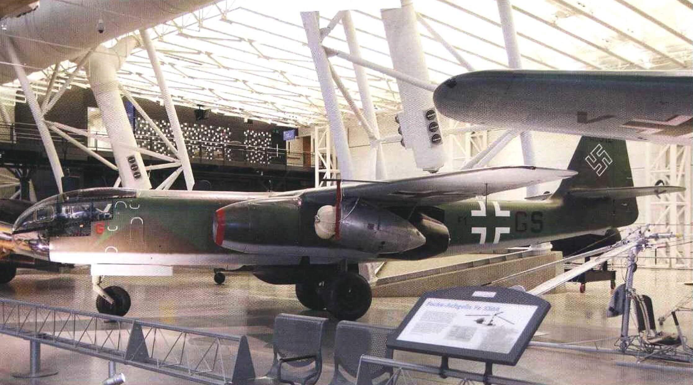 Ar234В в экспозиции Национального музея авиации и космонавтики в Вашингтоне. Фото Г. Слуцкого