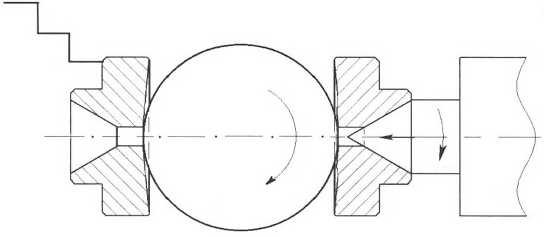 Рис. 6. Крепление шарообразной летали с помощью двух дисков фигурной формы