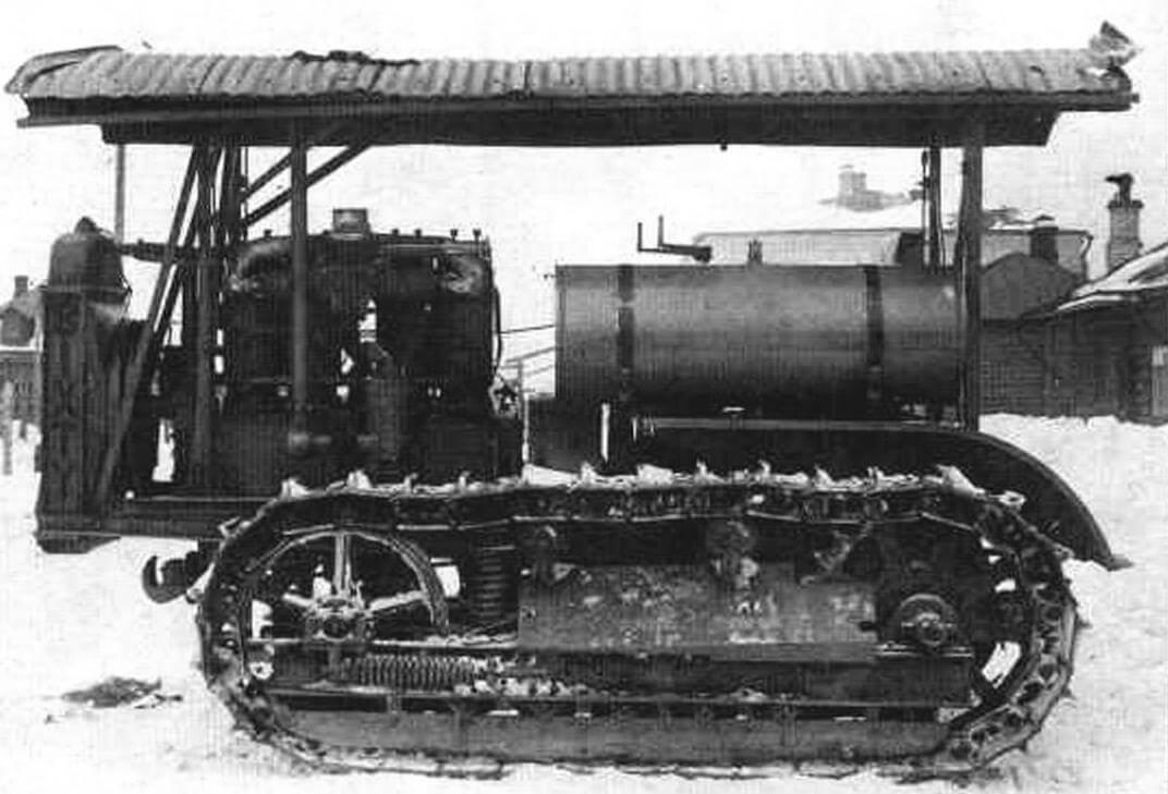 Американский трактор «60» (Sixty), прототип трактора «Сталинец». Государственные испытания, зима 1931/32 г.