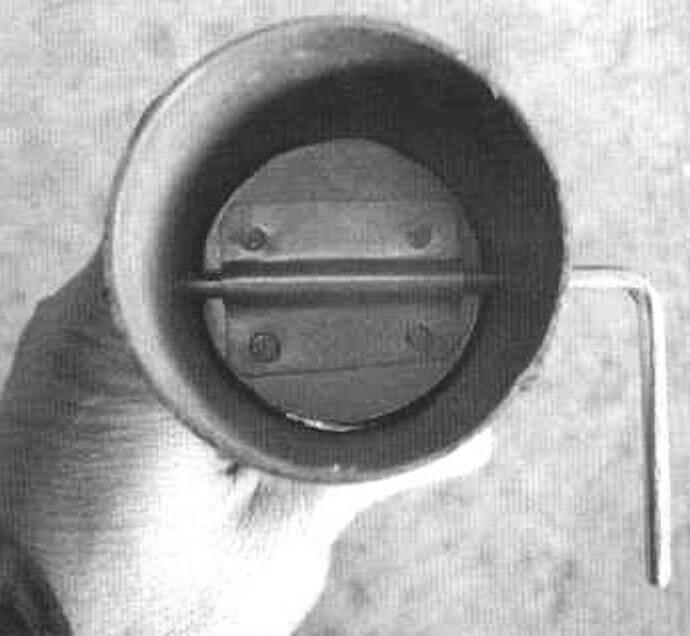 Заслонка, установленная в трубе
