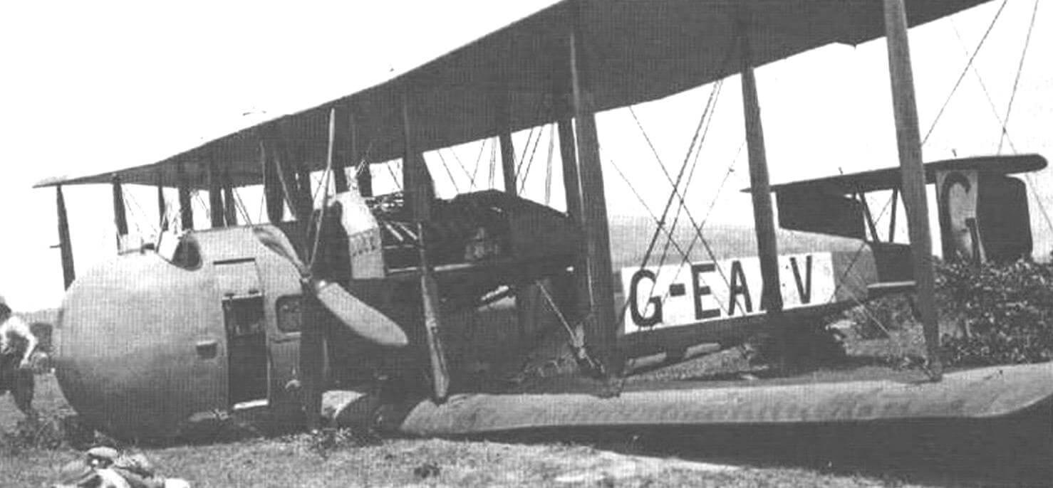 Авария опытного образца «Вими комершл» в Таганьике, 27 февраля 1920 г.