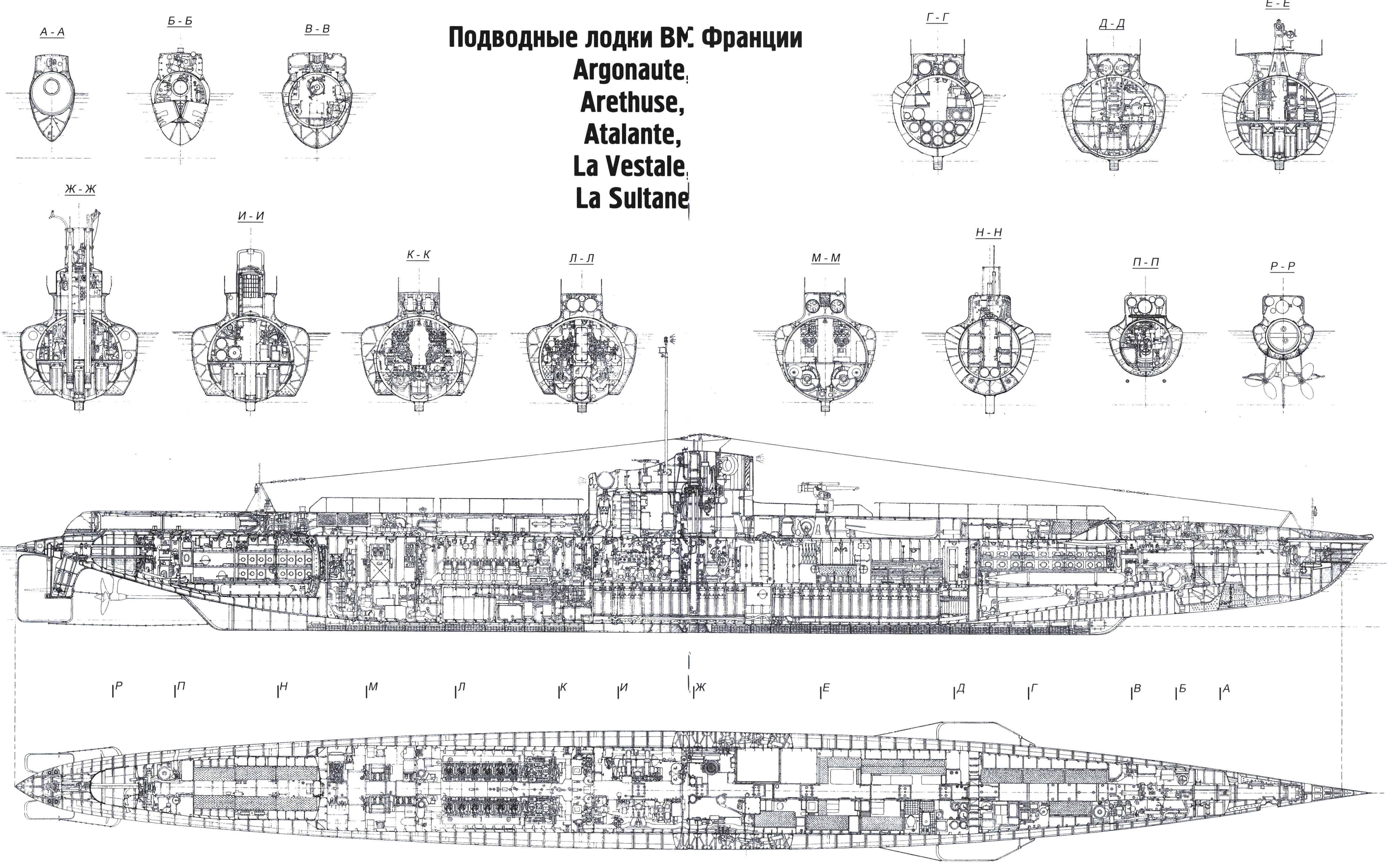 Подводная лодка «Редутабль» (Франция, 1930 г.)