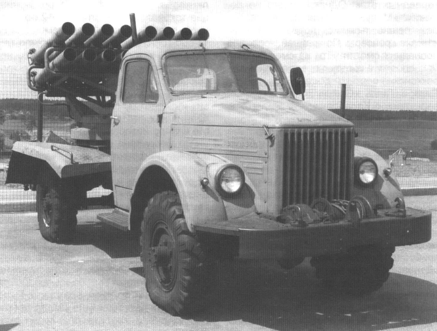 Автомобиль ГАЗ-63 с системой залпового огня
