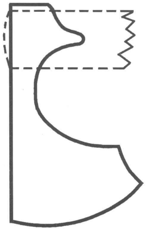 Рис. 12. Широколезвийный новгородский топор XII века [7|