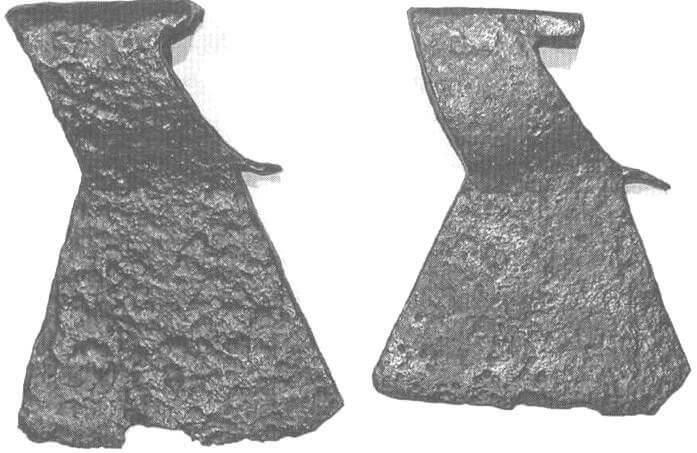 Рис. 14. Топоры XVII - XVIII века, Рязанская область.