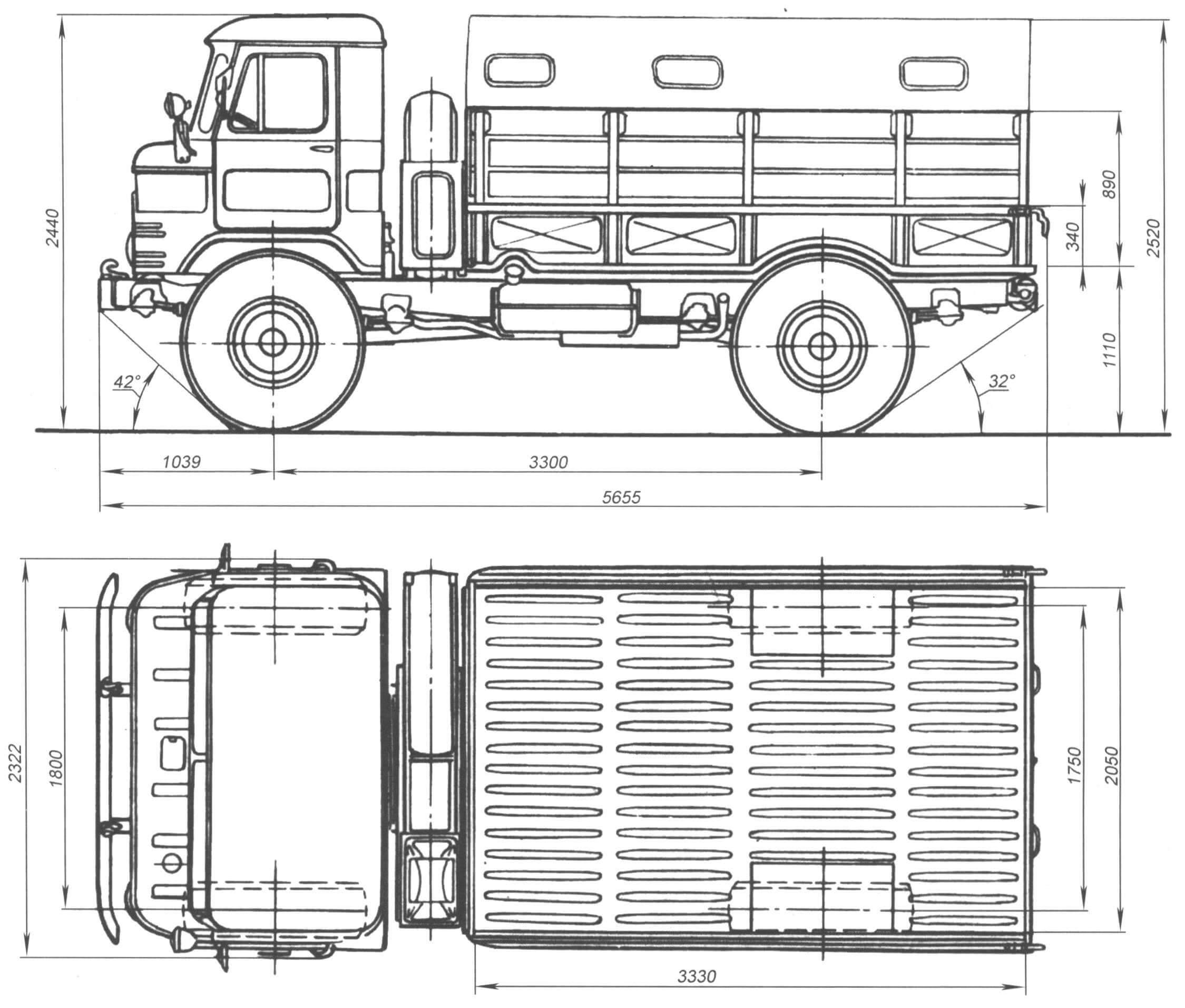 Опытный экземпляр ГАЗ-66