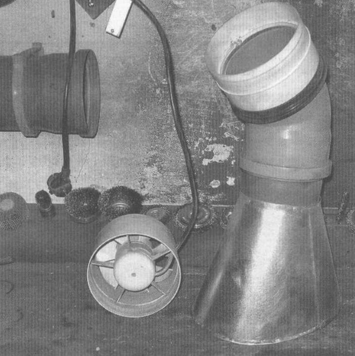 Раструб и вентилятор «Вентс 125» верстачного (среднего) вентиляционного узла