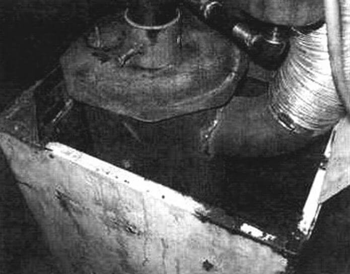Вид на выхлопную трубу