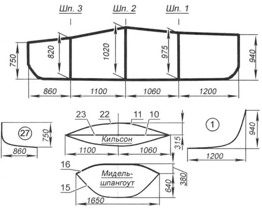 Каркас мини-яхты «Авоська-4»