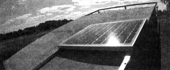 Солнечная панель - основа автономной «электростанции» кемпера