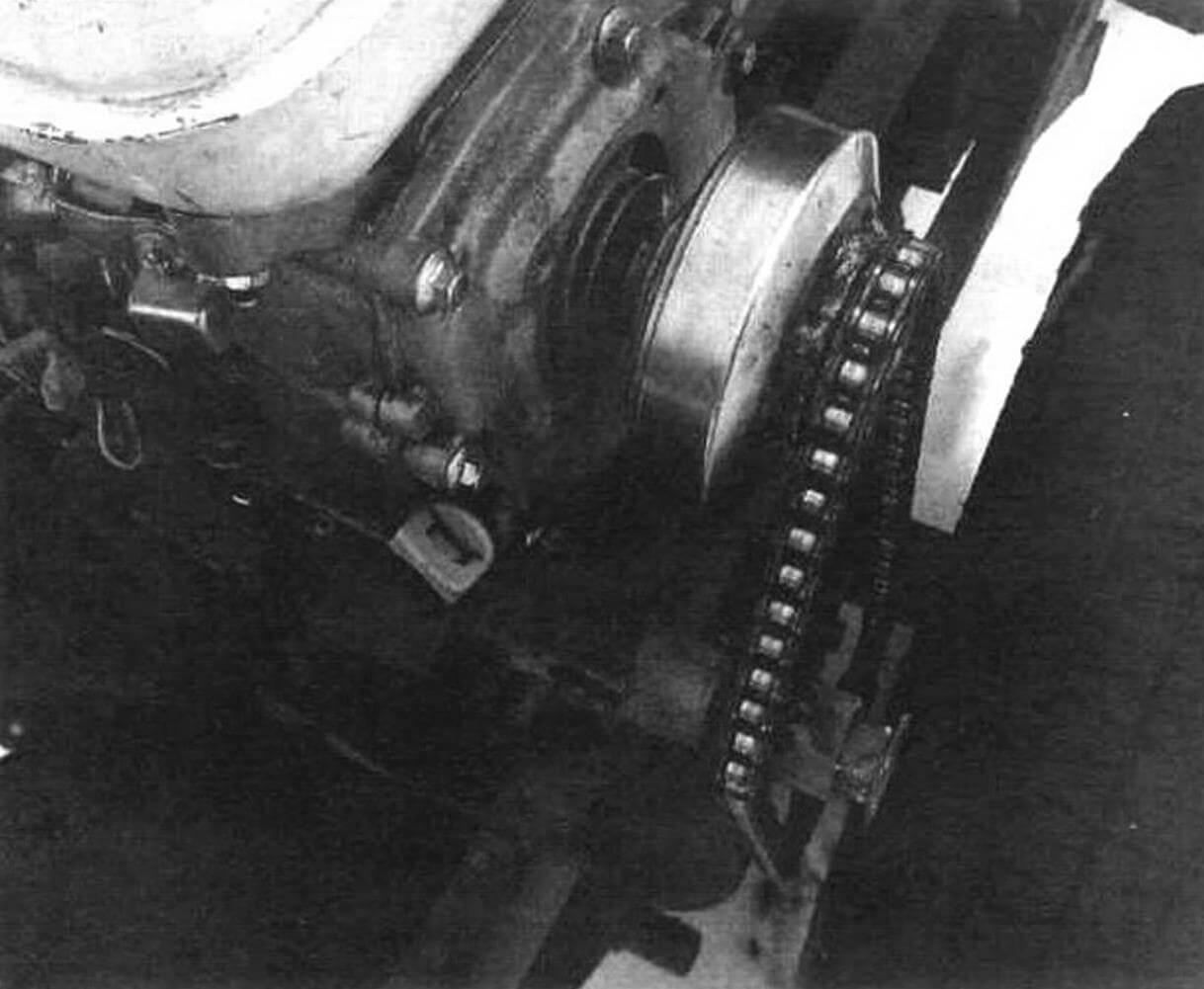 Внешний вид узла, установленного на самодельный минитрактор