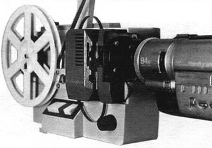 Использование для пересъемки киноленты видео- и фотокамеры