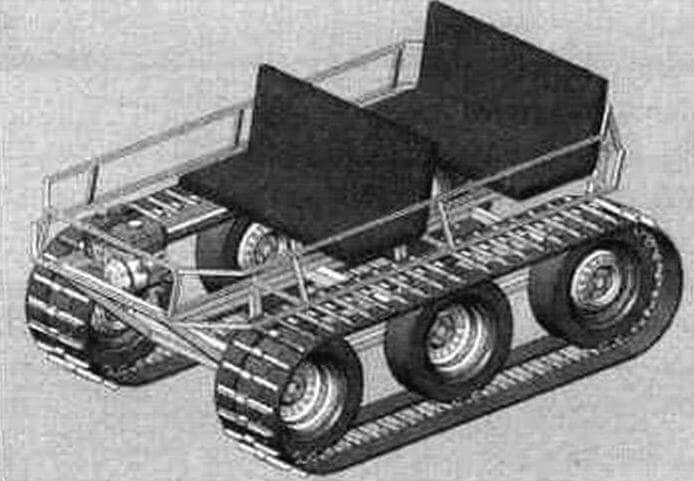 Данные эскизы наглядно иллюстрируют трансформацию сидений в спальное место, а также предлагаю! вариант верхнего съемною багажника. В металле это пока не осуществлено, значит, возможности дальнейшего развития у «Мишутки» есть!