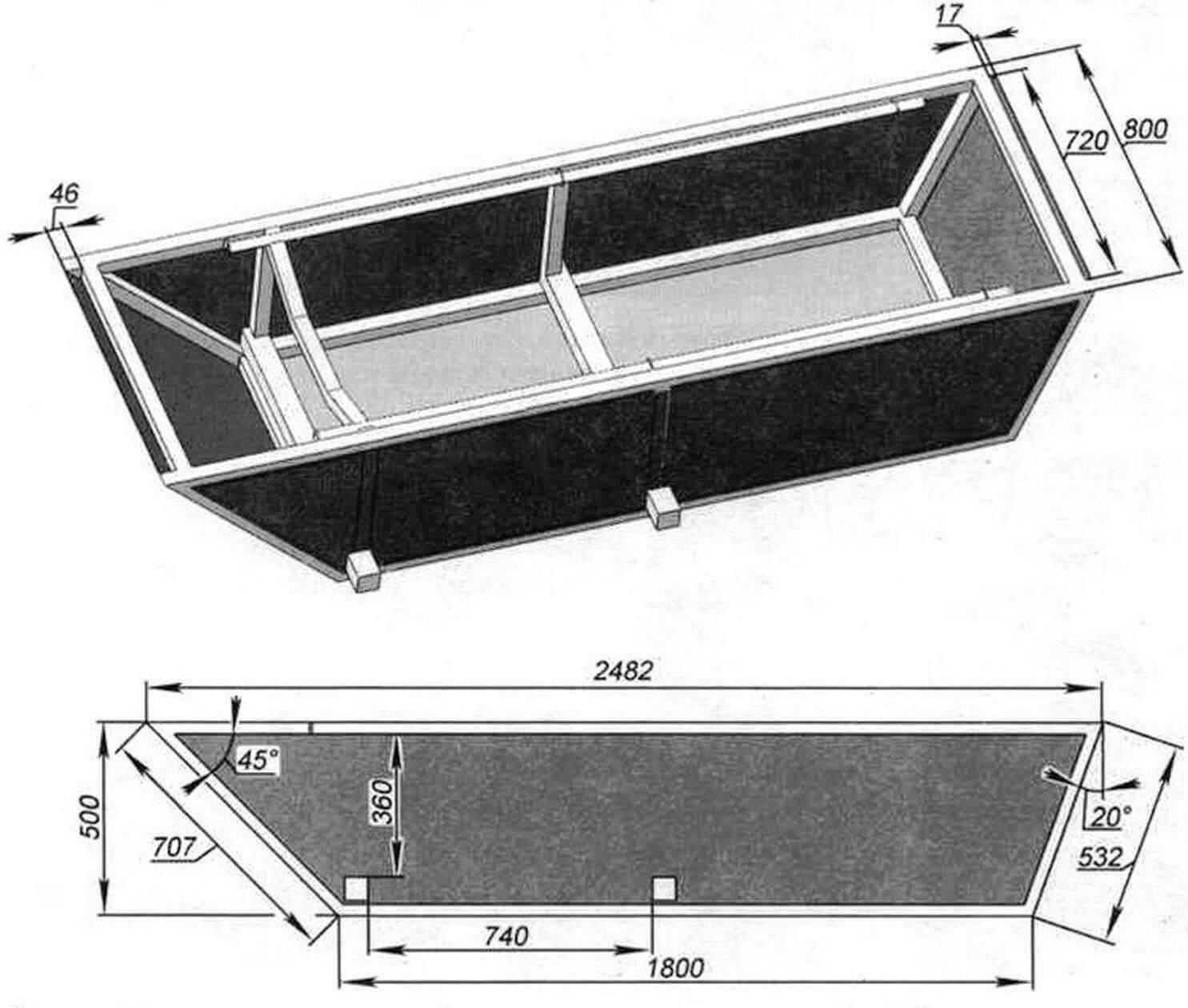 Основа «Мишутки» - герметичный кузов-лодка, представляющий собой каркас из стальных профилей, обшитый листовым железом