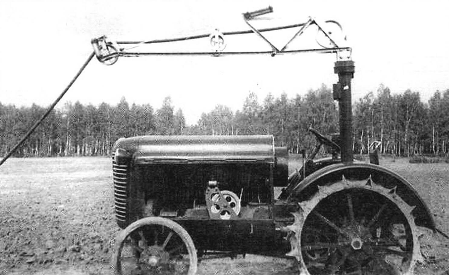 Электротрактор на испытаниях