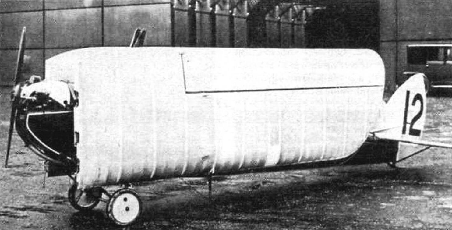 Первый опытный образец «Колибри» с отстыкованным крылом