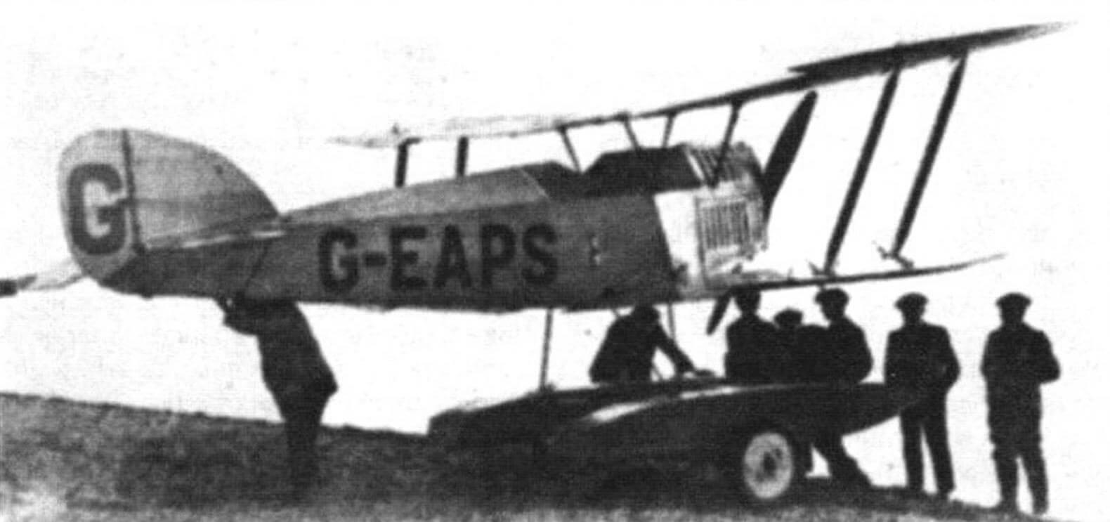 Авро 534А «Уотер Бэби» на двух поплавках и с увеличенным вертикальным оперением, ноябрь 1919 года
