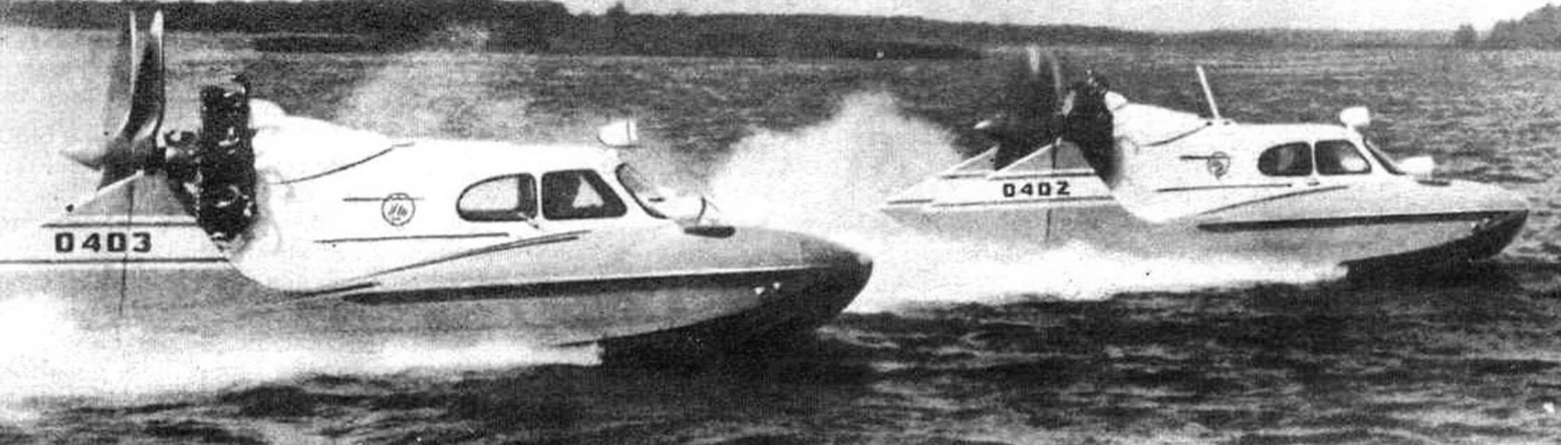 Серийные аэросани-амфибия А-3
