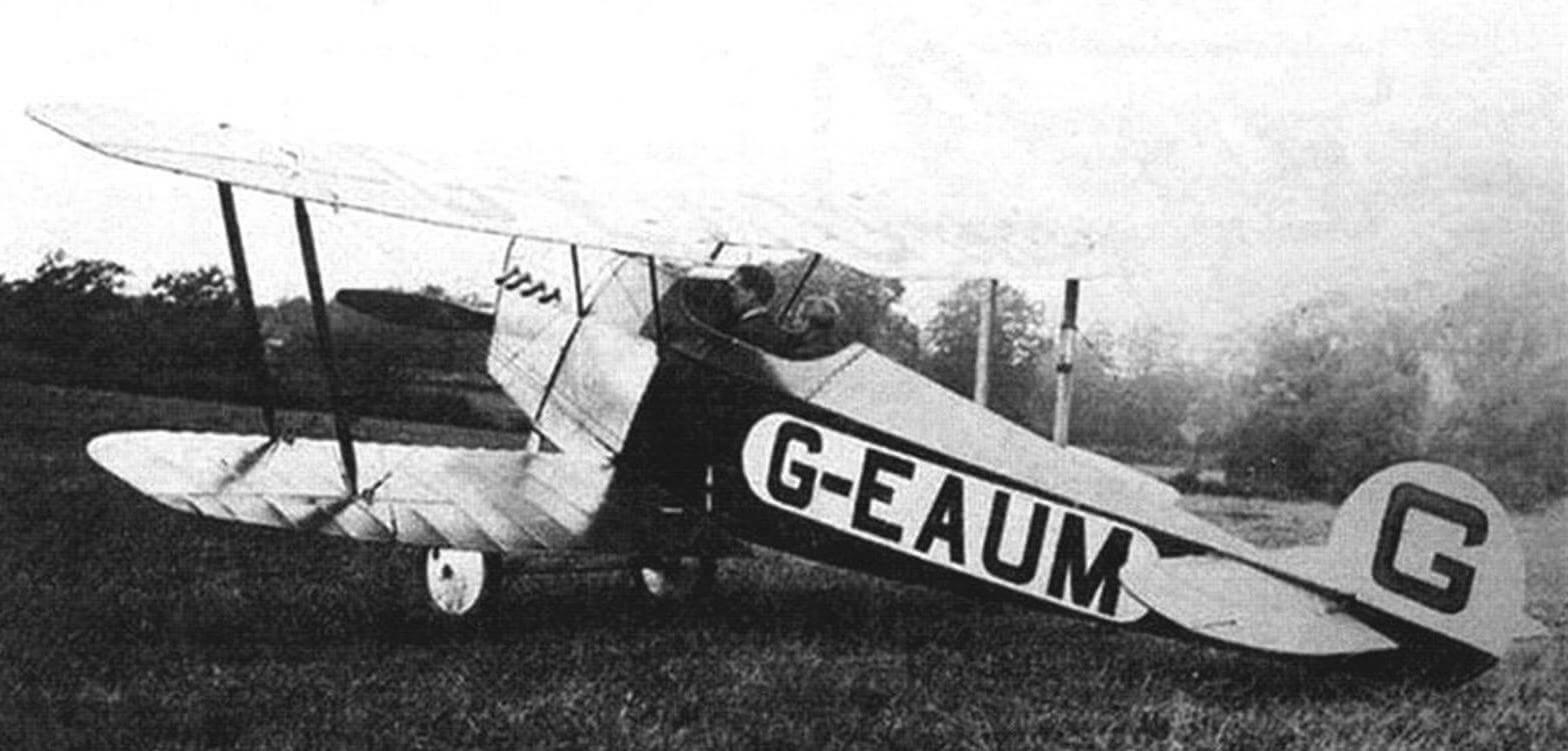 Двухместный Авро 543 в первоначальном виде с мотором «Грин», Хэмбл, июль 1920 года