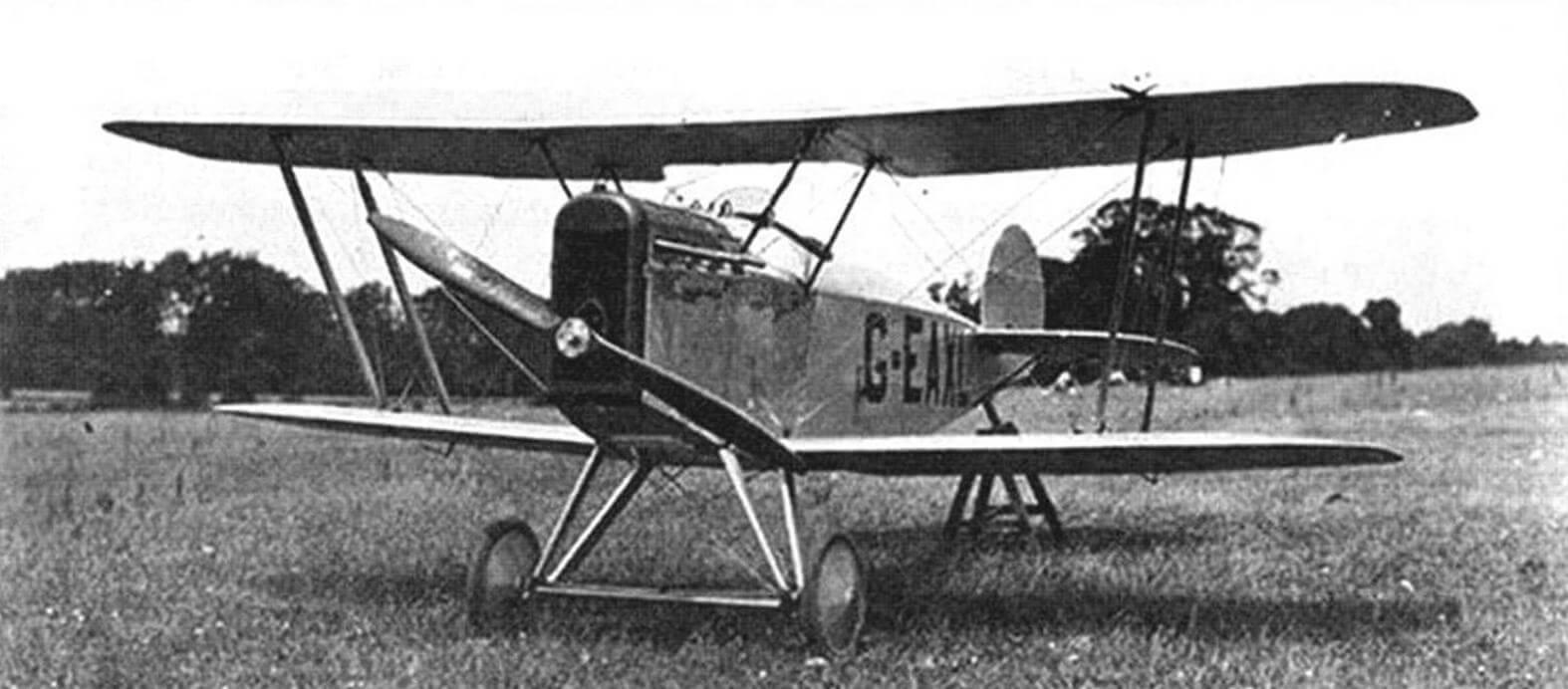 Авро 543С с укороченными крыльями, Хэмбл, июнь 1921 года