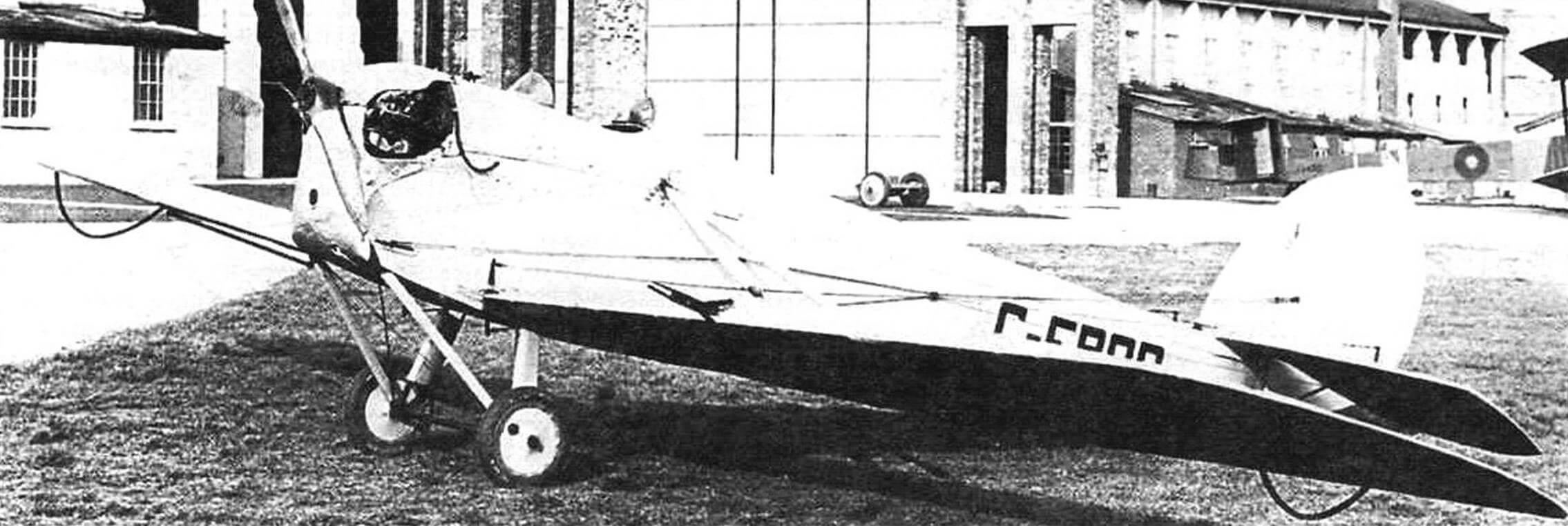 DH.53, поднимавшийся в воздух на дирижабле R-33