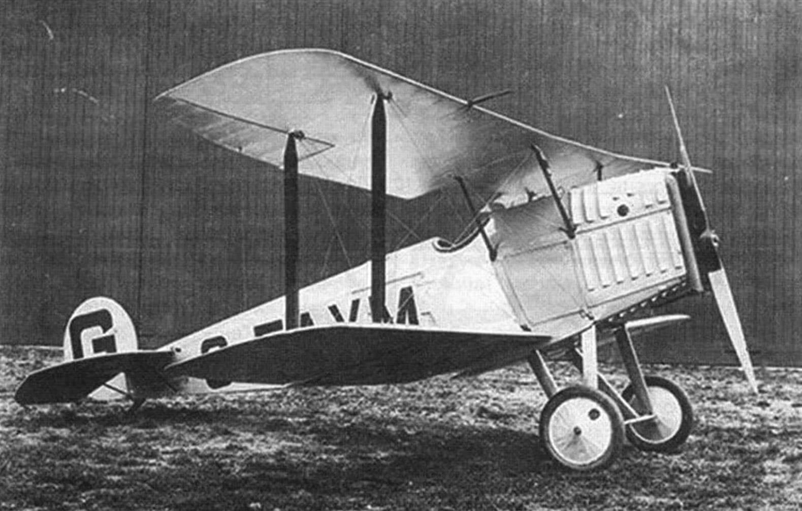 Авро 534D, изготовленный но заказу полковника Вильерса, 1928 г.